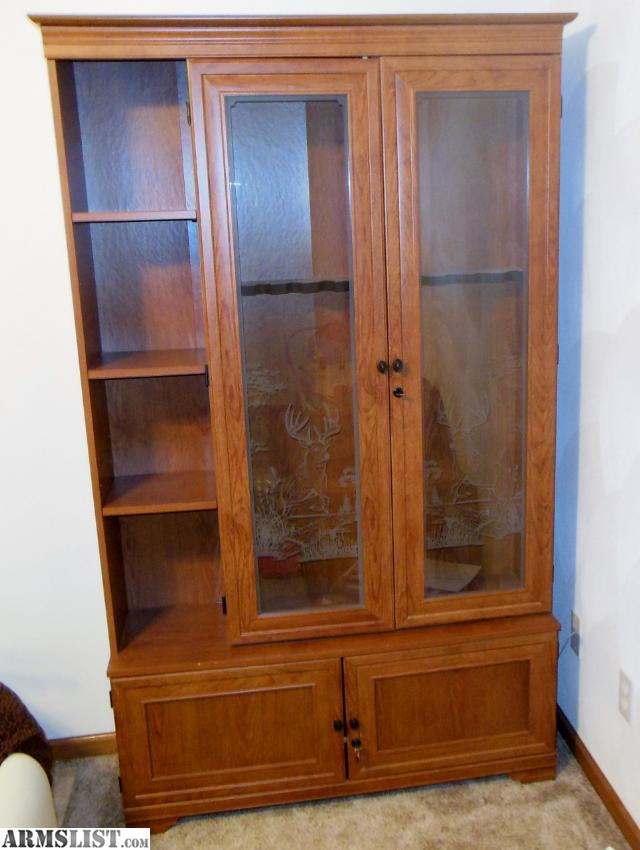 gun cabinets for sale armslist for wood gun cabinet for 16129