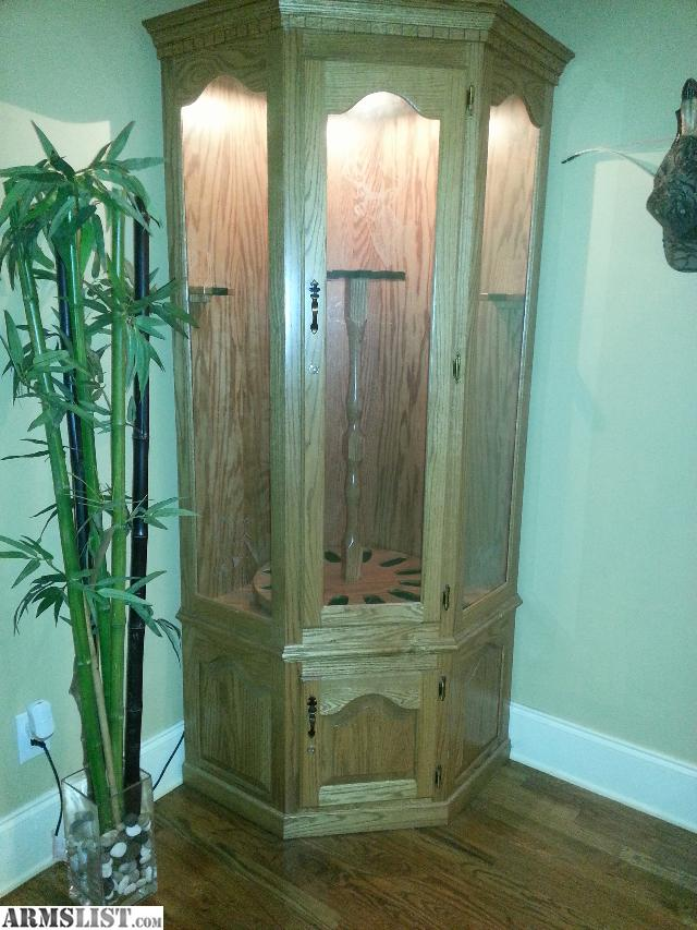 Amish Hand Made 14 Gun Corner Cabinet - See link below for more info. & ARMSLIST - For Sale/Trade: Old Buchanan Solid Wood Corner Gun Cabinet