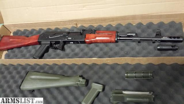 armslist for sale sold ak74 rifle with wood furniture and extra