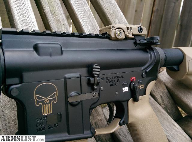 Armslist for sale brand new punisher skull fde ar 15 magpul str softer recoil because its midlength gassed flat dark earth punisher skull because its badass publicscrutiny Gallery