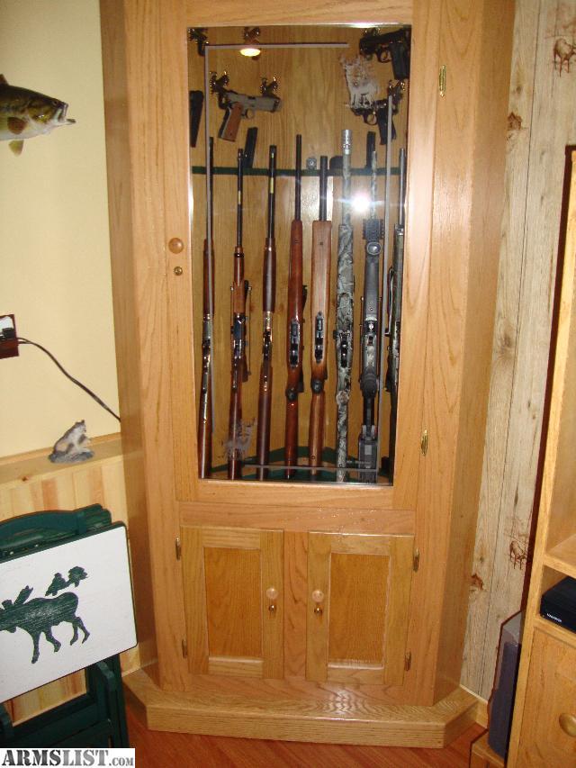 Armslist For Sale 2 Beautiful Oak Corner Gun Cabinets