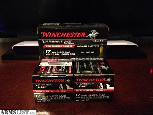 ARMSLIST For Sale 17 winchester super magnum ammo