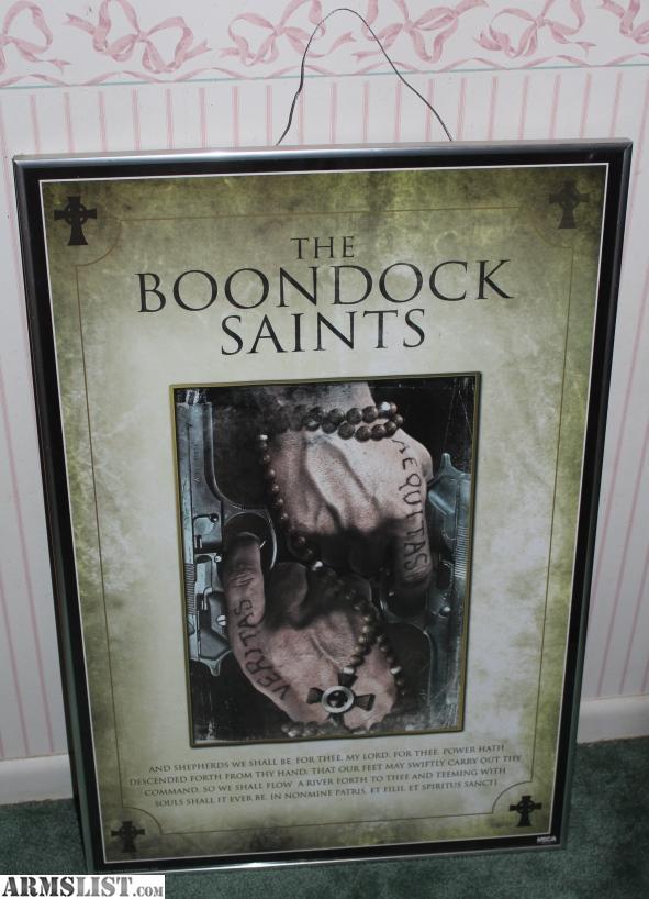 armslist for sale boondock saints movie poster framed