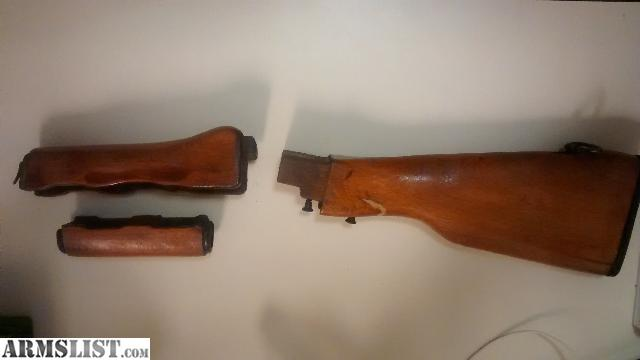 I just put plastic furniture on my AK I have all of the original wooden fur  nature for sale  Includes  Stock  buttplate  sling adapter  gas tube cover. ARMSLIST   For Sale  Romanian SAR 1 AK 47 Original Wooden Furniture
