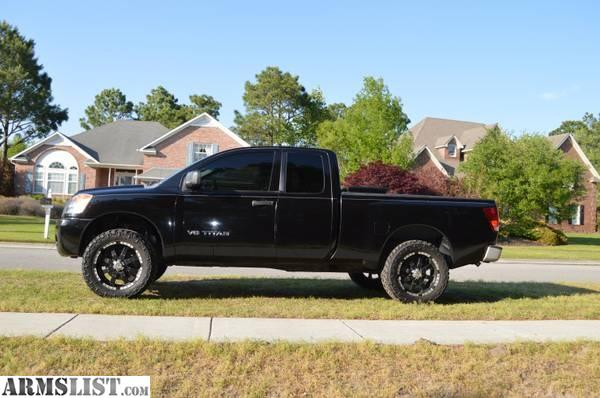 armslist for sale lifted nissan titan 4x4 2008 reduced in price. Black Bedroom Furniture Sets. Home Design Ideas