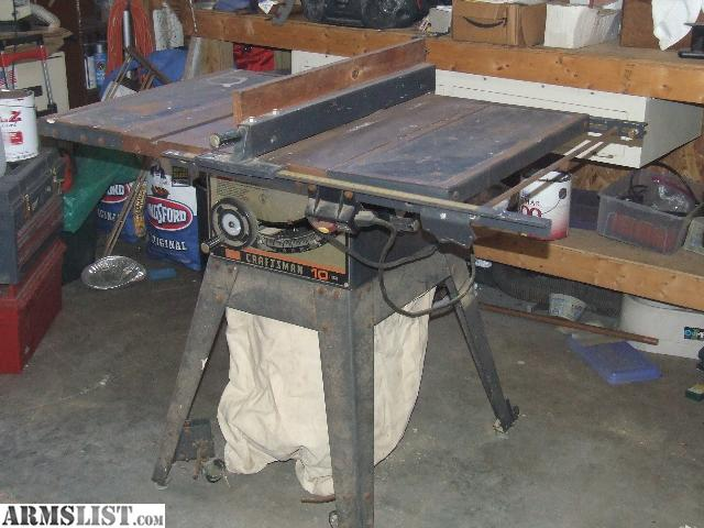 Armslist For Sale Vintage 10 Craftsman Table Saw