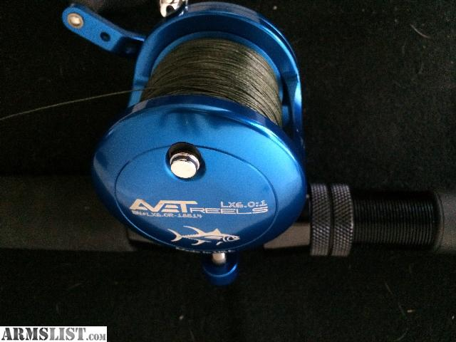 Armslist for sale avet lx6 0 single speed reel w for Deep sea fishing rods and reels for sale