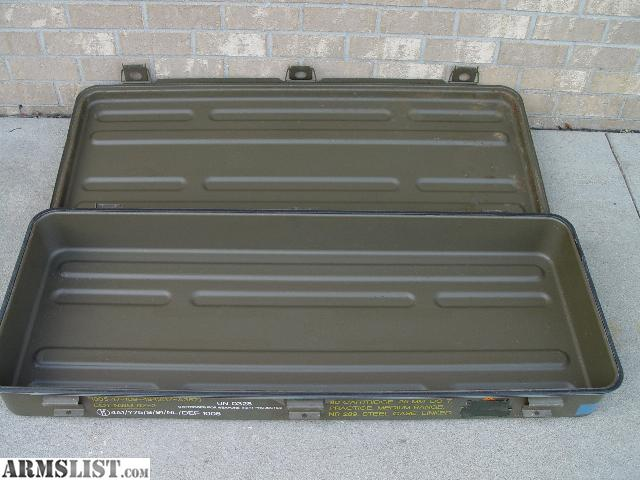 Large Heavy Duty Waterproof USGI Surplus Metal Storage Containers. These  Were Originally Storage Containers For Practice Artillery Rounds.