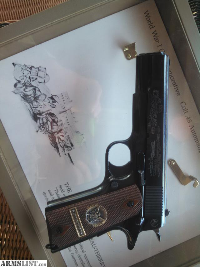 armslist for trade colt 1911 ww1 chateau thierry. Black Bedroom Furniture Sets. Home Design Ideas