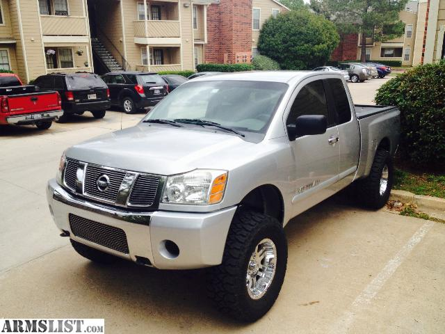 armslist for sale 2006 nissan titan 4x4 6 lift 35 tires 18 chrome wheels. Black Bedroom Furniture Sets. Home Design Ideas
