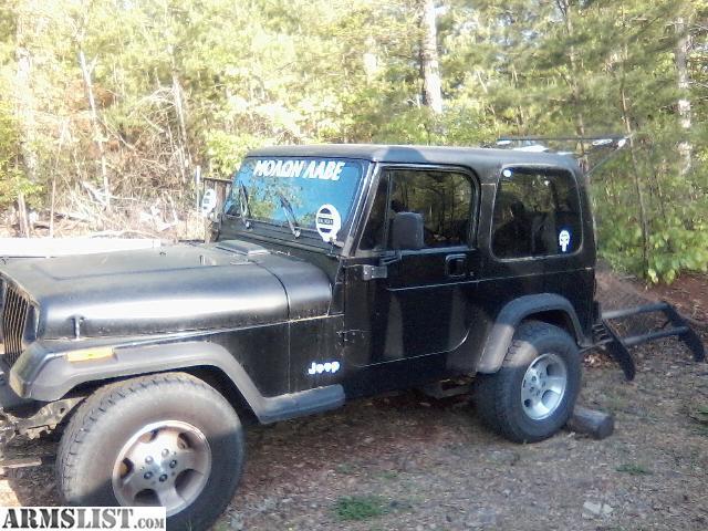 armslist for sale trade 94 jeep wrangler. Black Bedroom Furniture Sets. Home Design Ideas