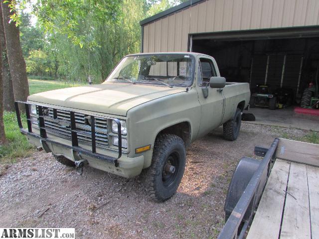 armslist for sale 1985 chevrolet k30 4x4 military m1008 cucv truck. Black Bedroom Furniture Sets. Home Design Ideas