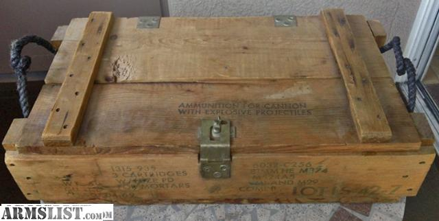 Armslist For Sale Vintage U S Army Wood Ammo Box