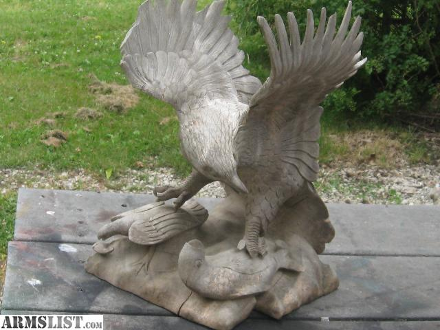 Armslist for sale large wood carved eagle with baby fish