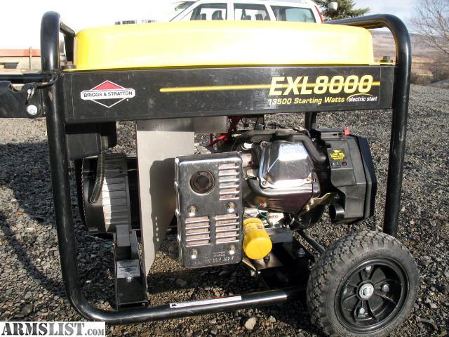 armslist for trade briggs stratton exl8000 generator rh armslist com Briggs and Stratton EXL8000 Generator EXL8000 Generator Service Manual