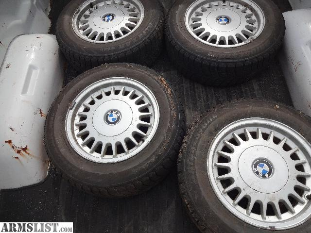armslist for sale bmw factory 15 inch wheels and tires 300. Black Bedroom Furniture Sets. Home Design Ideas