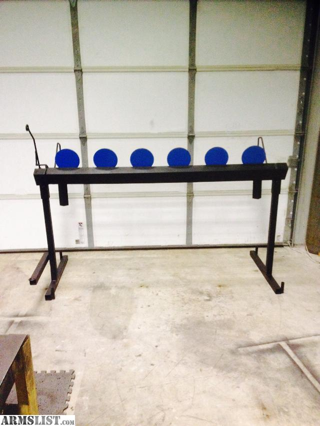 Heavy built  plate rack made from 3/8\  thick AR-500 plate  with action return arm  so no walking to reset targets  call or text REDACTED  I can text ... & ARMSLIST - For Sale: Plate Rack Action Target