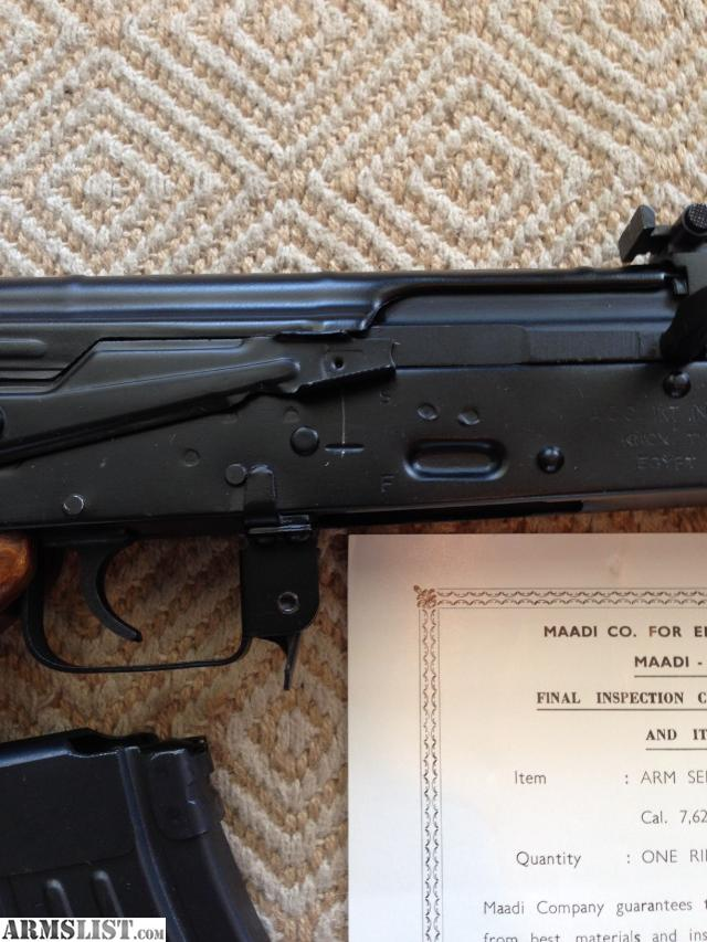 ARMSLIST - For Sale: AKM47 - Egyptian Maadi ARM Imported ...