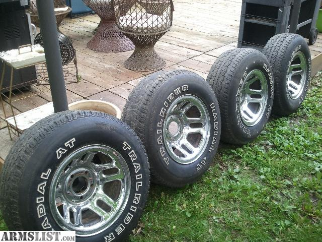 armslist for sale chevy truck rims and tires 235 75 15. Black Bedroom Furniture Sets. Home Design Ideas