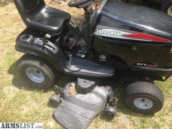 Craftsman 4000 Riding Lawn Mower : Armslist for sale trade craftsman dyt quot deck
