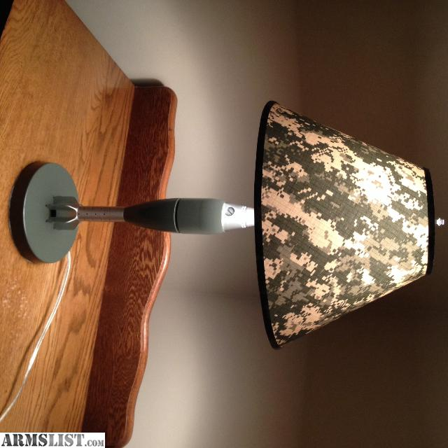 ... An American Veteran Made 60mm Mortar Lamp. This Item Is Professionally  Machined To Original Specs. Powder Coated Body. Custom Digital Camoflage  Shade.
