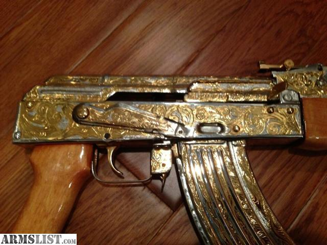 Armslist For Sale Ak47 24k Gold Two Tone Hand Engraved