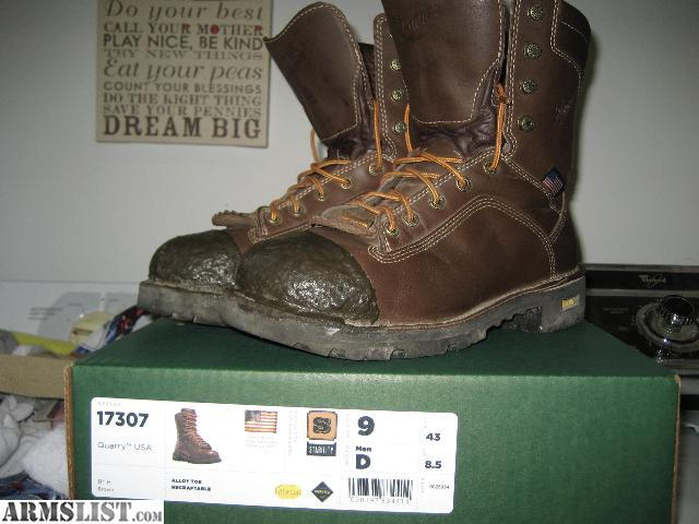ARMSLIST - For Sale/Trade: Almost New Danner Quarry Steel Toe Boots