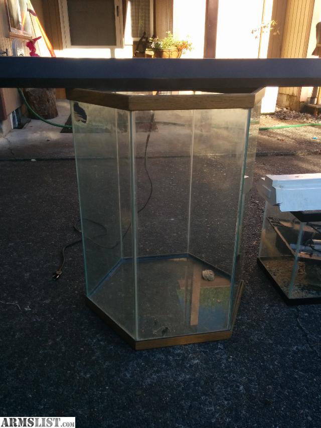 Armslist for sale trade fs ft random aquarium stuff for 30 gallon hexagon fish tank