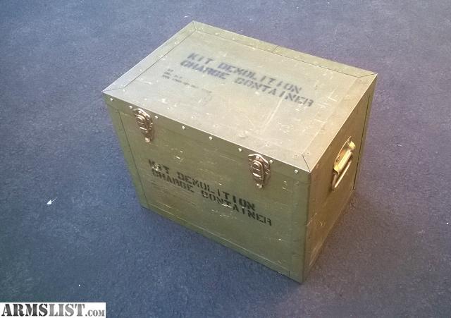 Armslist for sale e u s army e o d wooden demolition for Demolition wood for sale