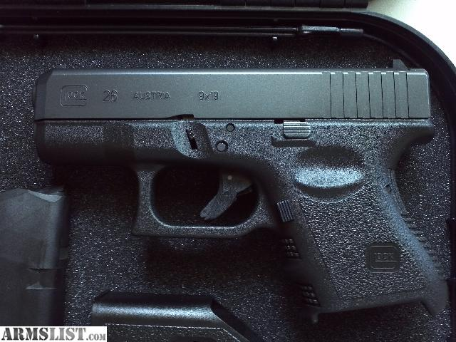 ARMSLIST - For Sale: Glock 26 (price reduced)