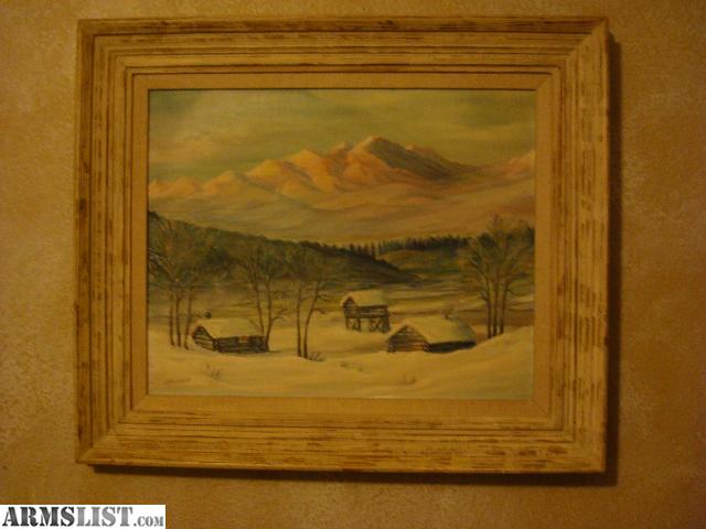 Armslist for sale trade vintage original wilderness for Oil paintings for sale amazon