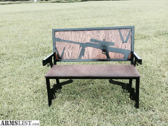 armslist for sale 2nd amendment porch benches custom metal furniture. Black Bedroom Furniture Sets. Home Design Ideas