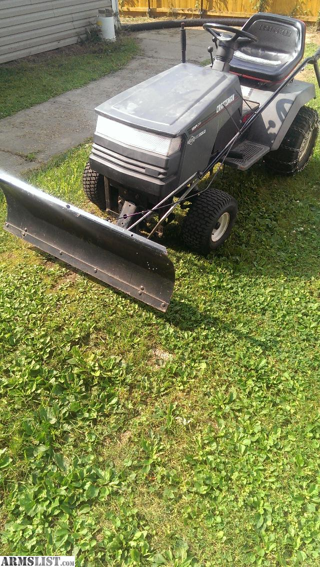 Craftsman Snow Plow : Armslist for trade craftsman mower with snow plow and
