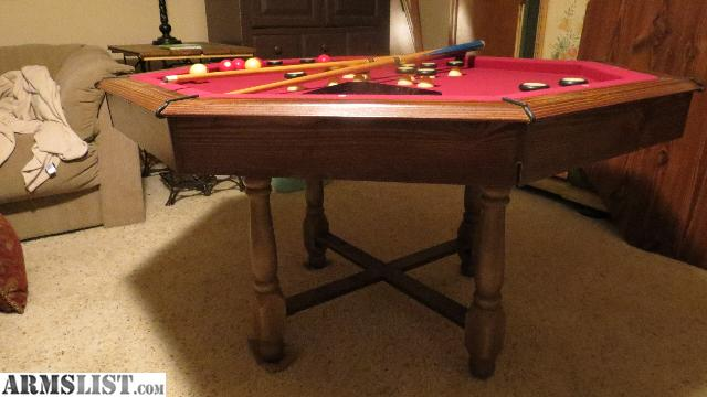For Sale/Trade: Bumper Pool/poker Table For Man Cave