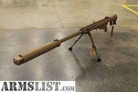 ARMSLIST - For Sale: Barrett M107A1 / suppressor and Leupold