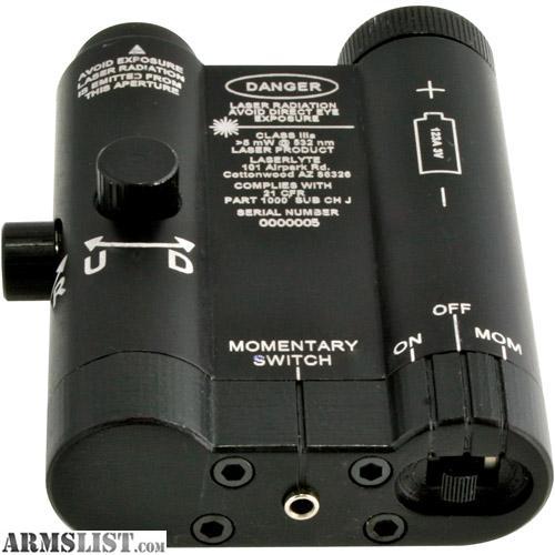 Laserlyte Cm Mk4 Center Mass Rail Laser Sight: For Sale/Trade: Laserlyte K-15 Green Light