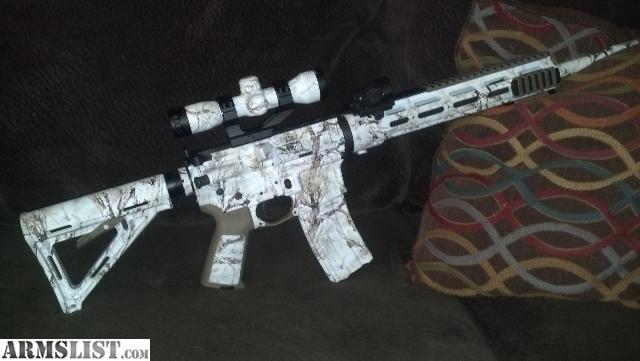 Spray Paint Snow Camo Gun