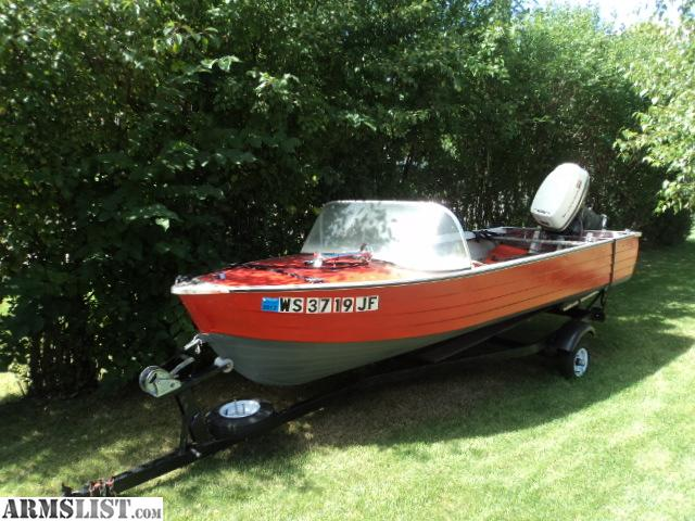 1974 Mirrocraft 15 Aluminum Runabout Boat With Johnson 33 Hp Motor Trailer