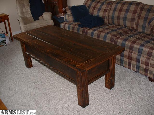 For Sale: Hidden Compartment Locking Rifle Chest Coffee Table - ARMSLIST -  For Sale: - Hidden Compartment Coffee Table IDI Design