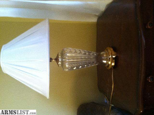 Armslist for sale vintage waterford crystal table lamp i have a waterford crystal table lamp for sale genuine waterford crystal and lamp shade shade has small stain on one side but lamp is near perfect mozeypictures Images