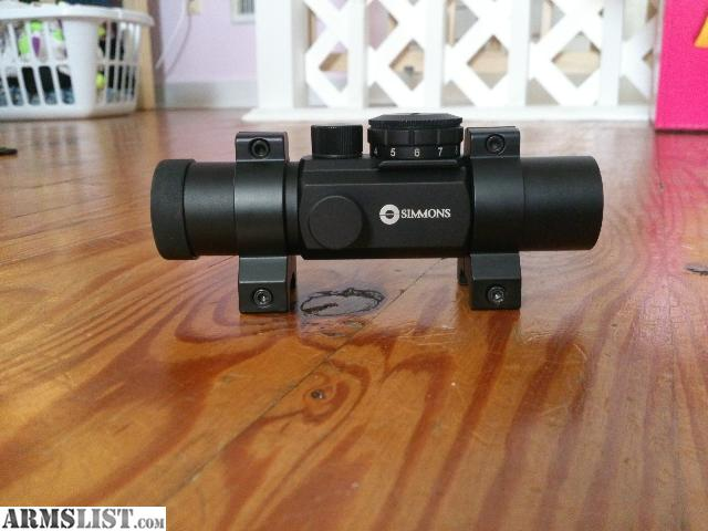 simmons optics logo. its a simmons red dot scope i bought for my carbine but didn\u0027t use. practically brand new, installed it once decided to use rifle instead. optics logo