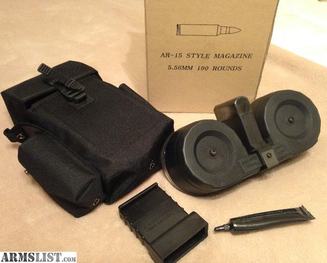Armslist For Sale Ar 15 100 Round Dual Drum