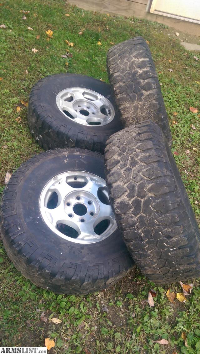 armslist for sale 2003 chevy 6 lug alumium rims and 16 tires. Black Bedroom Furniture Sets. Home Design Ideas