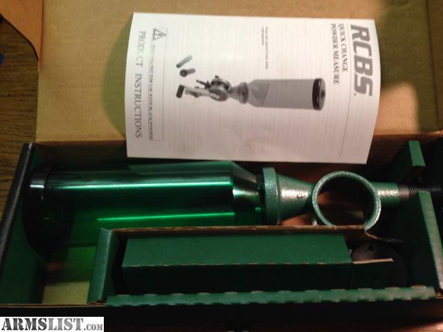 rcbs uniflow powder measure instructions