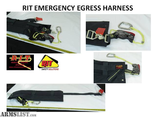 ARMSLIST - For Sale: RIT EMERGENCY EGRESS HARNESS, RIT Self Rescue