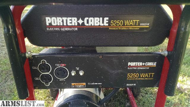 ARMSLIST - For Sale/Trade: generator/porter cable 10 hp ...