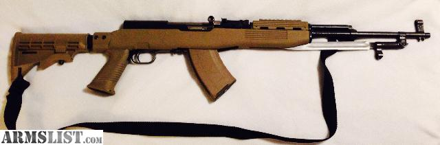 Elegant I Have A SKS With Synthetic Tapco Desert Tan Furniture. It Has A 6 Position  Adjustable Stock, Matching Mag, Sling And Bayonet. Its In Excellent  Condition ...