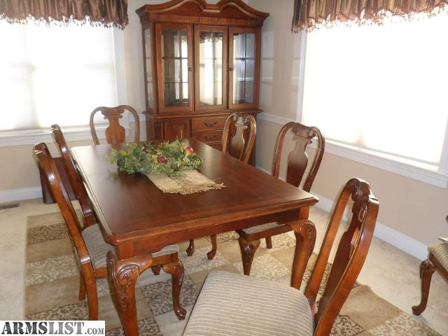 Armslist for sale ten piece dining room table and hutch for Dining room hutch for sale
