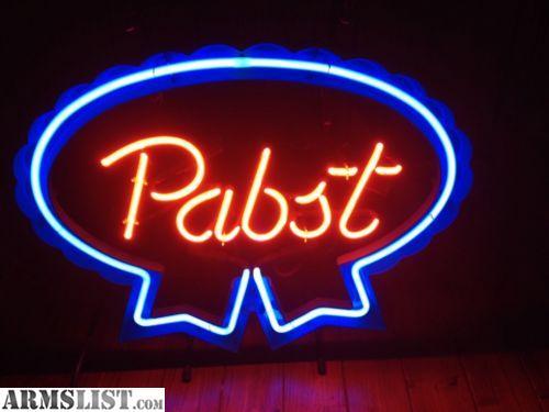 ARMSLIST - For Sale/Trade: Vintage PBR Neon Sign