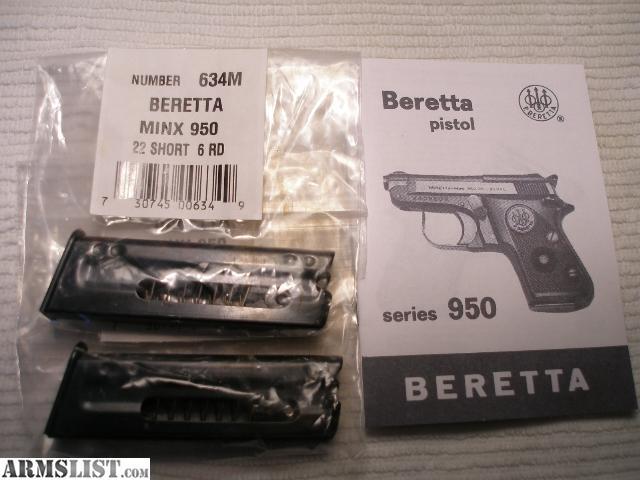 Beretta 950 Bs owners Manual